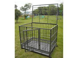 "New 36"" Heavy Duty Level III Dog Pet Cat Bird Crate Cage Kennel HS"