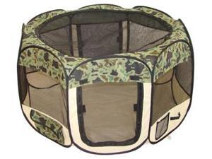 BestPet Pet Tent Puppy Playpen Exercise Pen - M - Camouflage