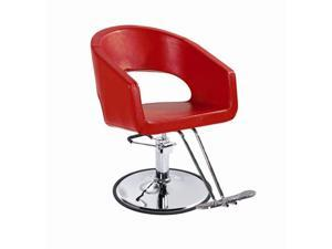 Red Modern Fashion Hydraulic Barber Chair Styling Salon Beauty Spa Equipment 21R