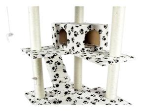 "73"" Paw Cat Tree Condo Furniture Scratch Post Pet House"