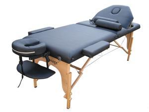 Black PU Reiki Portable Massage Table Carry Case 9B2