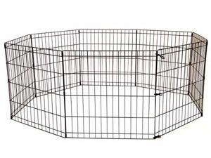 36-Black Tall Dog Playpen Crate Fence Pet Kennel Play Pen Exercise Cage