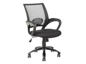 BestChair OC-H12 Ergonomic Mesh Computer Office Desk Task Midback Task Chair with Metal Base - Black