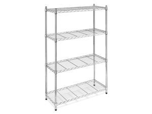 Storage Rack 4-Tier Chrome Organizer Kitchen Shelving Steel Wire Shelves Cart