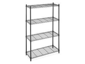 New Storage Rack 4-Tier Black Organizer Kitchen Shelving Steel Wire Shelves Cart