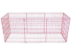48-Pink Tall Dog Playpen Crate Fence Pet Kennel Play Pen Exercise Cage -8 Panel
