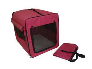 Dog Cat Pet Bed House Soft Carrier Crate Cage w/Case LR