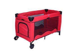 New Red Pet Playpen Play Yard Cat Exercise Pen Dog Bed