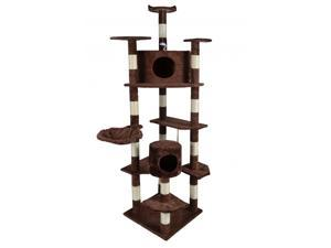 "BestPet 9080 80"" Cat Tree Condo Furniture Scratch Post Pet House - Brown"