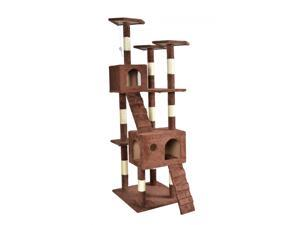 "BestPet 9073 73"" Cat Tree Scratcher Play House Condo Furniture - Brown"