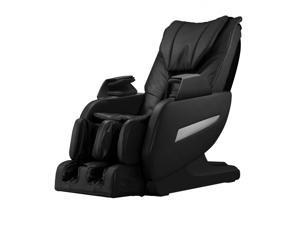 BestMassage Full Body Zero Gravity Shiatsu Massage Chair Recliner w/Heat and Long Rail - Black