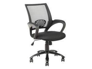 Ergonomic Mesh Office Computer Chair w/Metal Base - Black