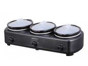 New Elite Platinum Triple Slow Cooker Three 1.5-Quart Crocks Pot C501