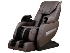 Brown Full Body Zero Gravity Shiatsu Massage Chair Recliner 3D Massager Heat
