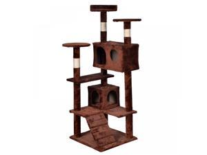BestPet Brown Cat Tree Tower Condo Furniture Scratch Post Kitty Pet House