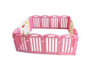 Pink Baby Playpen Kids 14 Panel Safety Play Center Yard Home Indoor Outdoor Pen