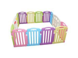 Mixed Baby Playpen Kids 14 Panel Safety Play Center Yard Home Indoor Outdoor Pen 122
