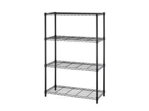 "Black 36""x14""x54"" 4 Tier Layer Shelf Adjustable Steel Wire Metal Shelving Rack"