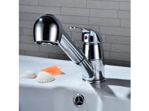 Swivel Spout Kitchen Single Handle Pull Out Faucet with Multifunctional Spray 35