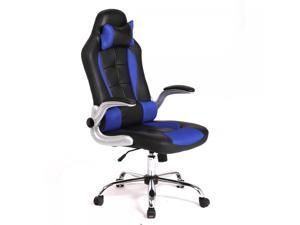 New Blue  High Back Race Car Style Bucket Seat Office Desk Chair Gaming Chair C55