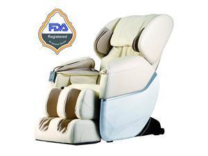 Beige Electric Full Body Shiatsu Massage Chair