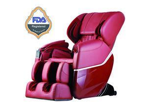 BestMassage EC77 Electric Full Body Shiatsu Massage Chair Recliner Zero Gravity w/Heat - Burgundy