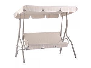 New Beige Canopy Swing Glider Hammock Chair Patio Backyard Porch Furniture SW68