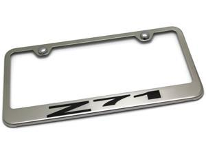 Chevrolet Z71 Logo Bright Mirror Chrome License Plate Frame Tag LF.Z71.EC.NEG