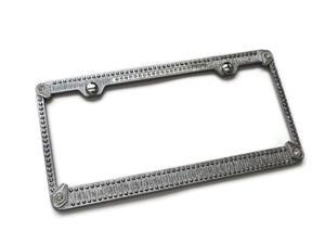 Crystal Rhinestone Bling License Plate Frame Metal Mirror Chrome BMW Lexus Audi WL125-C