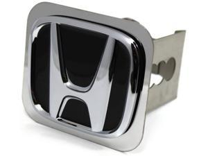 "Black Honda Logo Hitch Cover 2"" Hitch Receivers Cover Plug Stainless Steel"