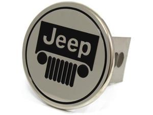 "Jeep Vehicle Logo Metal Hitch Cover 2"" Hitch Receivers Stainless Steel"