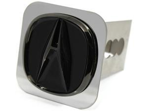 """Acura Black Pearl Logo Hitch Cover Plug 2"""" Receiver Stainless Steel AUTHENTIC"""