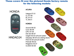 Green Silicone Key Fob Cover Case Smart Remote Pouches Protection Key Chain Fits: Acura CL 97-99
