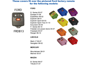 Green Silicone Key Fob Cover Case Smart Remote Pouches Protection Key Chain Fits: Ford Ranger 98-10