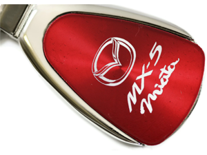 Mazda Miata MX5 Red Teardrop Key Fob Authentic Logo Key Chain Key Ring Keychain Lanyard KCRED.MIA