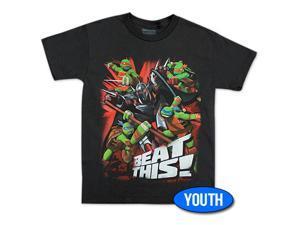 TMNT Beat This Youth Boys 8-20 Tee Shirt - Black