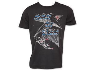 Men's Black Vintage Junk Food Man Of Steel Superman Tee Shirt