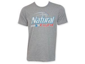 Natural Light Grey Beer Logo T-Shirt