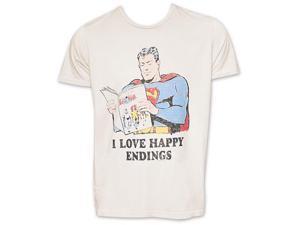 Superman Love Happy Endings Junk Food TShirt - Beige