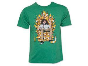 Workaholics Throne of Booze Green Blake Tee Shirt