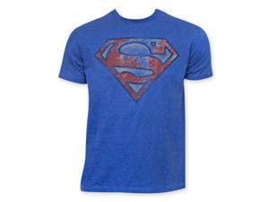Superman Heather Blue Tee Shirt