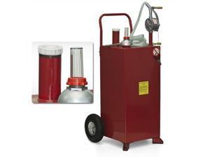 30 Gallon Gas Caddy Tank Storage Drum Barrel Gasoline Fluid Diesel Carrier Pump