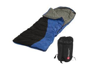 "Single Sleeping Bag 23F/-5C 2 Camping Hiking 84""x 55"" W Carrying Case New"