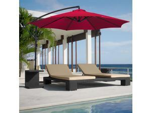 10' Hanging Patio Umbrella Offset (Burgundy)