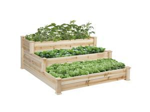 BCP Raised Vegetable Garden Bed 3 Tier Elevated Planter Kit Outdoor Gardening