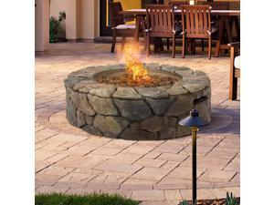 BCP Stone Design Fire Pit Outdoor Home Patio Gas Firepit
