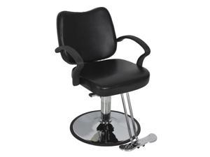 Hydraulic Barber Chair Styling Salon Work Station Chair Black Modern Design New