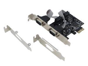 SEDNA - PCI Express 2 Port Serial Adapter Card - Oxford OXPCIe952 chipset  ( 2 pieces Low Profile Brackets Included )