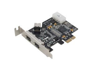 SEDNA - PCI-Express IEEE 1394b FireWire 3 Port Controller Card ( 2 External + 1 Internal ) with Low Profile Bracket