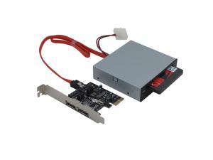"SEDNA - 2 Port PCIe SATA III 6.0 Gbps Low Profile Adapter Card with Hybrid Disk SDD accereration Software and 2.5"" SSD/HDD Internal Dock"